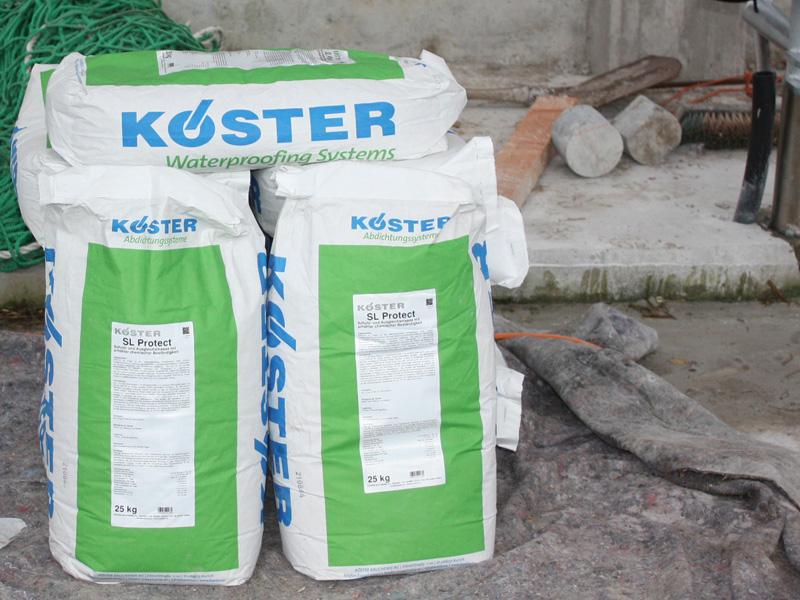Mineralische Beschichtung Mit KÖSTER SL Protect